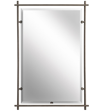 Kichler 41096OZ Olde Bronze Modern Large Rectangular Mirror from the Eileen Collection