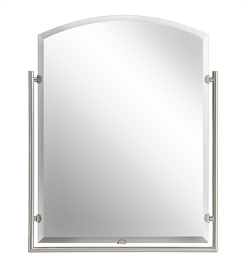 Kichler 41056NI Brushed Nickel Modern Arched Mirror from the Structures Collection