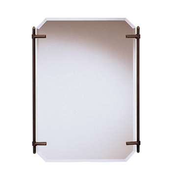 Kichler 41055OLZ Oiled Bronze Transitional Rectangular Mirror from the Polygon Collection