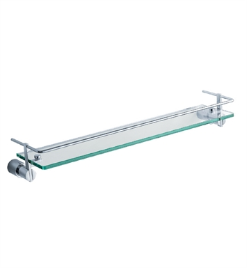 "Fresca FAC0145 Magnifico 21"" Glass Shelf with Railing in Chrome"