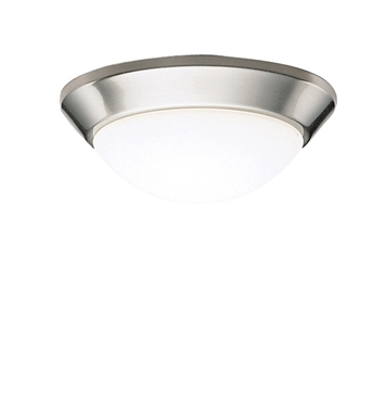 Kichler 8880NI Ceiling Space Collection Flush Mount 1 Light in Brushed Nickel