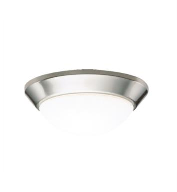 "Kichler 8880NIFL Ceiling Space 1 Light 10"" Fluorescent Flush Mount Ceiling Light in Brushed Nickel"