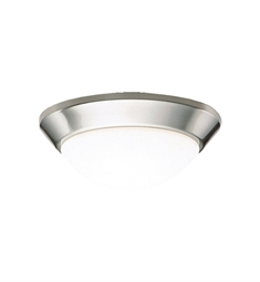 Kichler Ceiling Space Collection Flush Mount 1 Light Fluorescent in Brushed Nickel