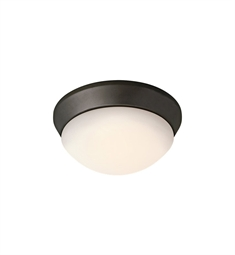 Kichler Ceiling Space Collection Flush Mount 1 Light Fluorescent in Olde Bronze