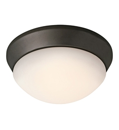 Kichler Ceiling Space Collection Flush Mount 1 Light in Olde Bronze