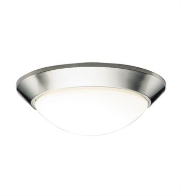 "Kichler 8882NI Ceiling Space 2 Light 16 1/2"" Incandescent Flush Mount Ceiling Light in Brushed Nickel"