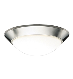 Kichler Ceiling Space Collection Flush Mount 2 Light in Brushed Nickel