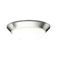 Kichler Ceiling Space Collection Flush Mount 2 Light Fluorescent in Brushed Nickel
