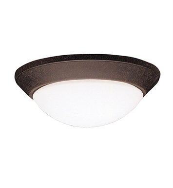 Kichler 8882TZ Ceiling Space Collection Flush Mount 2 Light in Tannery Bronze