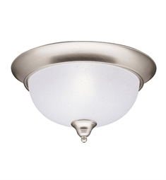 Kichler Dover Collection Flush Mount 2 Light in Brushed Nickel