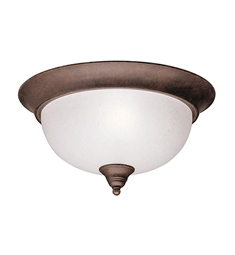 Kichler Dover Collection Flush Mount 2 Light in Tannery Bronze