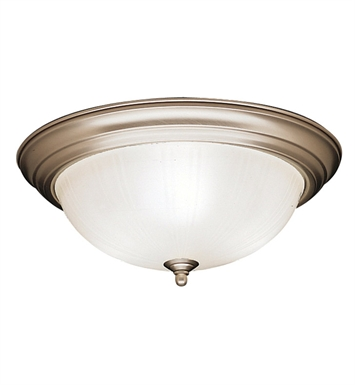Kichler 8655NI Flush Mount 3 Light in Brushed Nickel