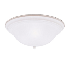 Kichler Flush Mount 3 Light in Stucco White