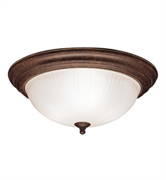 Kichler Flush Mount 3 Light in Tannery Bronze