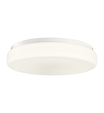 Kichler 10891WH Flush Mount 2 Light Fluorescent in White