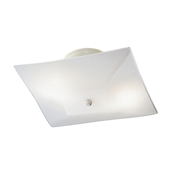 Kichler 7260WH Ceiling Space Collection 2-Bulb Flush Mount Light in White - Sold as a package of 12