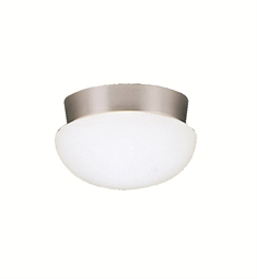 Kichler Ceiling Space Collection Flush Mount 1 Light in Brushed Nickel