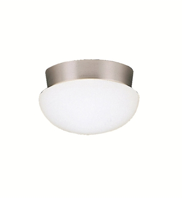 Kichler 8101NI Ceiling Space Collection Flush Mount 1 Light in Brushed Nickel