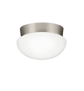 Kichler 8101NIFL Ceiling Space Collection Flush Mount 1 Light Fluorescent in Brushed Nickel