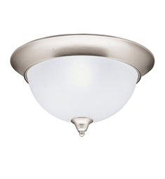 Kichler Dover Collection Flush Mount 3 Light in Brushed Nickel