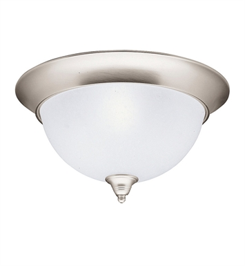 Kichler 8065NI Dover Collection Flush Mount 3 Light in Brushed Nickel