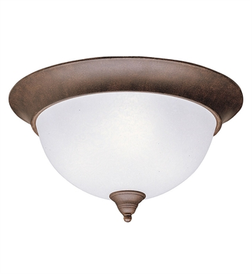 Kichler 8065TZ Dover Collection Flush Mount 3 Light in Tannery Bronze