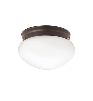 Kichler 206OZ Ceiling Space Collection 1-Bulb Flush Mount Light in Olde Bronze - Sold as a package of 12