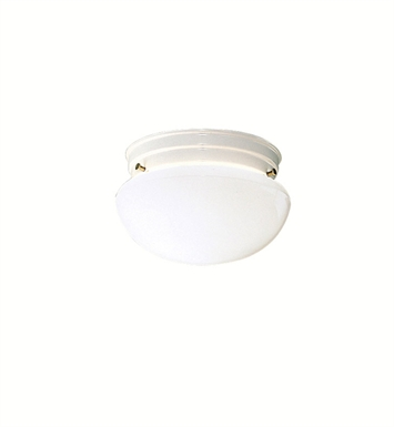Kichler 206WH Ceiling Space Collection 1-Bulb Flush Mount Light in White - Sold as a package of 12