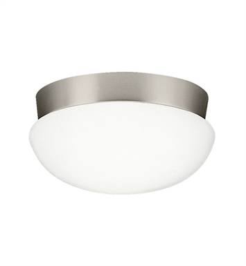 Kichler 8103NIFL Ceiling Space Collection Flush Mount 3 Light Fluorescent in Brushed Nickel