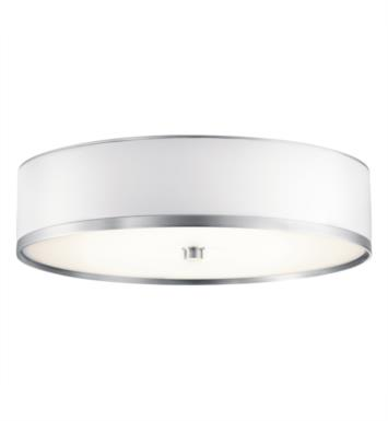"Kichler 10804BA Pira 1 Light 15"" Fluorescent Flush Mount Ceiling Light in Brushed Aluminum"