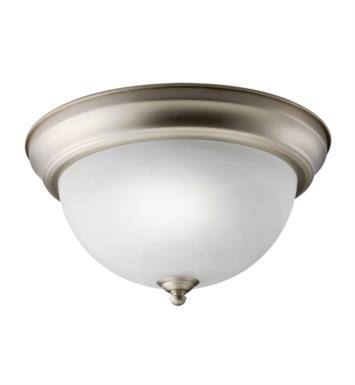 Kichler 10835NI 1 Light Compact Fluorescent Flush Mount Ceiling Light in Brushed Nickel
