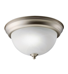 Kichler Flush Mount 1 Light Fluorescent in Brushed Nickel