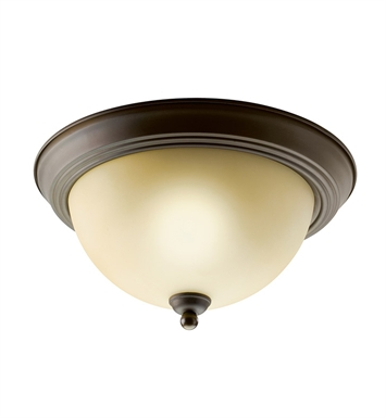 Kichler 10835OZ Flush Mount 1 Light Fluorescent in Olde Bronze
