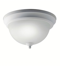 Kichler Flush Mount 1 Light Fluorescent in White