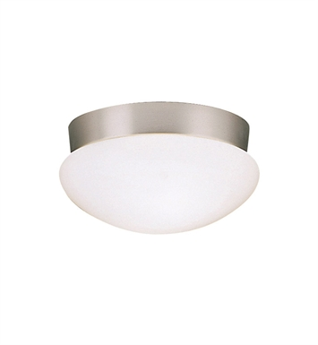 Kichler 8102NI Ceiling Space Collection Flush Mount 2 Light in Brushed Nickel