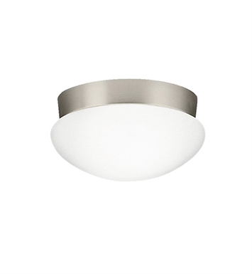 Kichler 8102NIFL Ceiling Space Collection Flush Mount 2 Light Fluorescent in Brushed Nickel