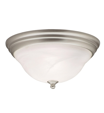 Kichler 8076NI Telford Collection Flush Mount 2 Light in Brushed Nickel