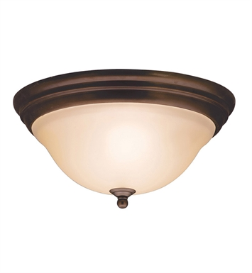 Kichler 8076OZ Telford Collection Flush Mount 2 Light in Olde Bronze