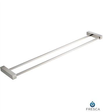"Fresca FAC0440BN Ottimo 26"" Double Towel Bar in Brushed Nickel"
