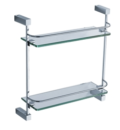 Fresca Ottimo 2 Tier Glass Shelf in Chrome