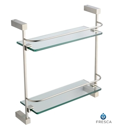 Fresca Ottimo 2 Tier Glass Shelf in Brushed Nickel