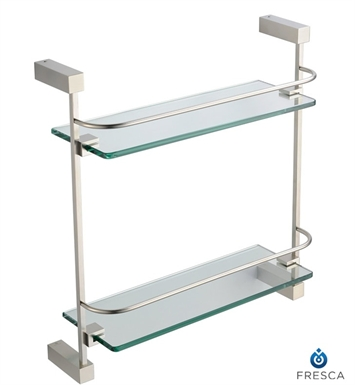 Fresca FAC0446BN Ottimo 2 Tier Glass Shelf in Brushed Nickel