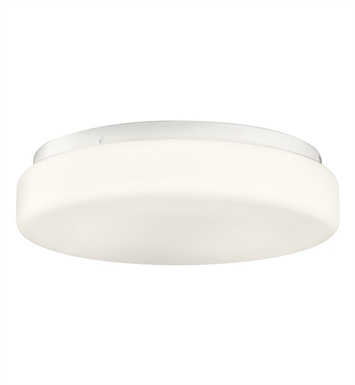 Kichler 10889WH Flush Mount 1 Light Fluorescent in White