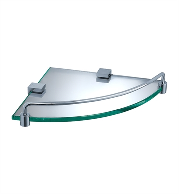 Fresca FAC0448 Ottimo Corner Glass Shelf in Chrome
