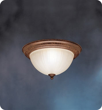 Kichler 10864TZ Flush Mount 2 Light Fluorescent in Tannery Bronze