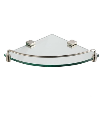 Fresca FAC0448BN Ottimo Corner Glass Shelf in Brushed Nickel