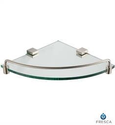 Fresca Ottimo Corner Glass Shelf in Brushed Nickel