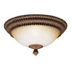 Kichler Larissa Collection Flush Mtount 3 Light in Tannery Bronze with Gold Accent