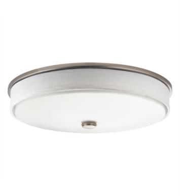 Kichler 10885NI Santiago 2 Light Fluorescent Flush Mount Ceiling Light in Brushed Nickel