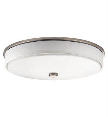 Kichler 10885NI Santiago Collection Flush Mount 2 Light Fluorescent in Brushed Nickel